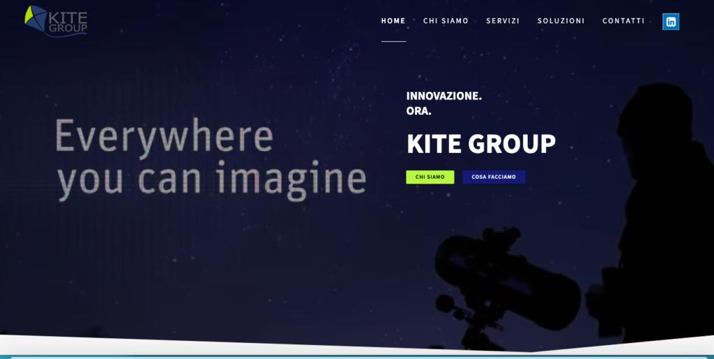 Progettazione, realizzazione e manutenzione del sito aziendale www.kitegroup.eu